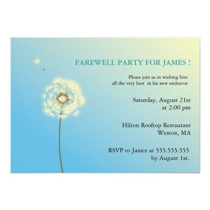 1260 best Farewell Party Invitations images on Pinterest - farewell party invitation template