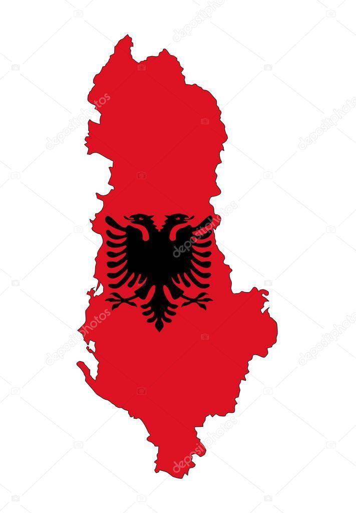Albania Country Flag Map Shape National Symbol Stock Photo Spon Flag Map Albania Country Ad Albania Flag Albania Country Albania