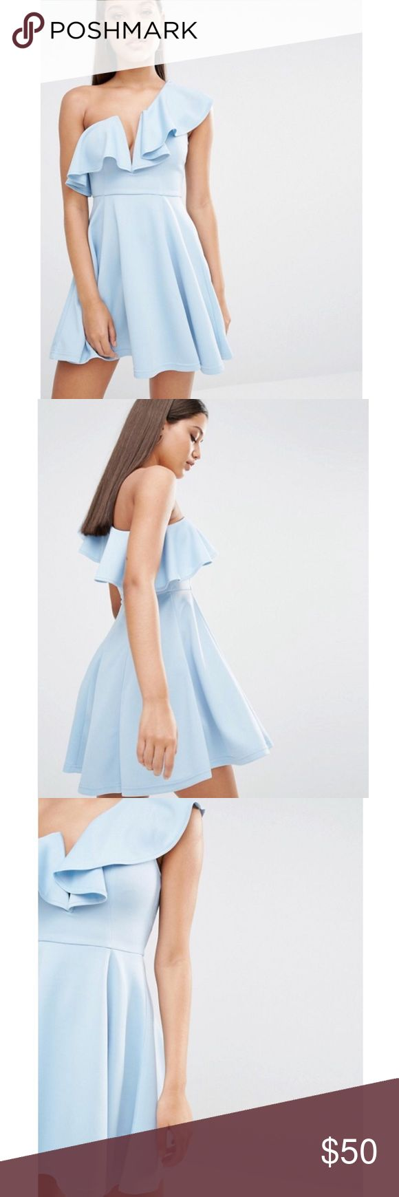 NWT Rare London Ruffle Skater Dress Rare London, this exact dress was sold at ASOS for $76. Size US 6. Color is darker than stock photos. ASOS Dresses