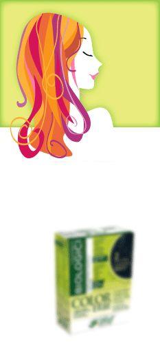 Banner promozionale di tinture naturali per capelli