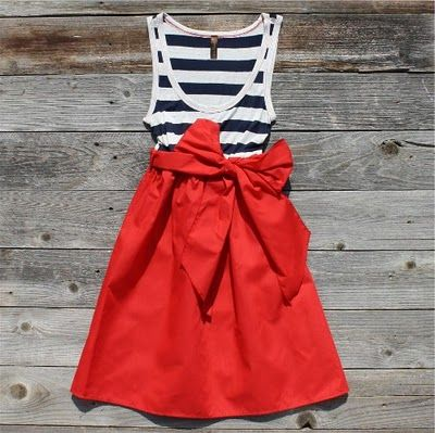4th of july... : Outfits, Summer Dresses, Style, Fourth Of July, 4Th Of July, Stripes, Sailors, Big Bows, Red Skirts