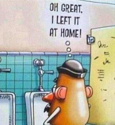 Left it at home....Adult Humor, Lol Funny, Funny Things, Potatoes Head, French Fries, Potatoes Xd, Too Funny, Funny Stuff, Funny Finding