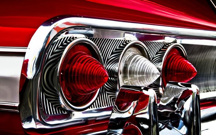 Chevrolet, impala, red, rear, шевроле, импала, красная, фары