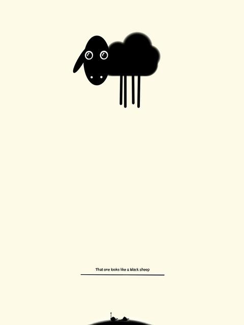 Svart får/Black Sheep by Björksätra