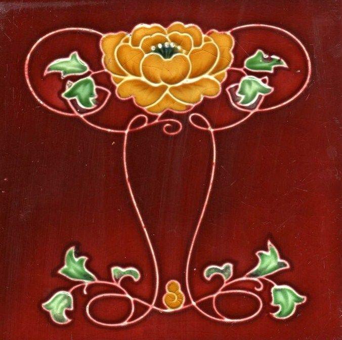 Art Nouveau Art & Crafts - 1900 - Ceramic TileArt Crafts, Crafts Ceramics, 1900, Ceramics Tile Would, Art Tile, Art Nouveau Embroidery, Crazy Quilting Csw, Art Deco, Art Noveau