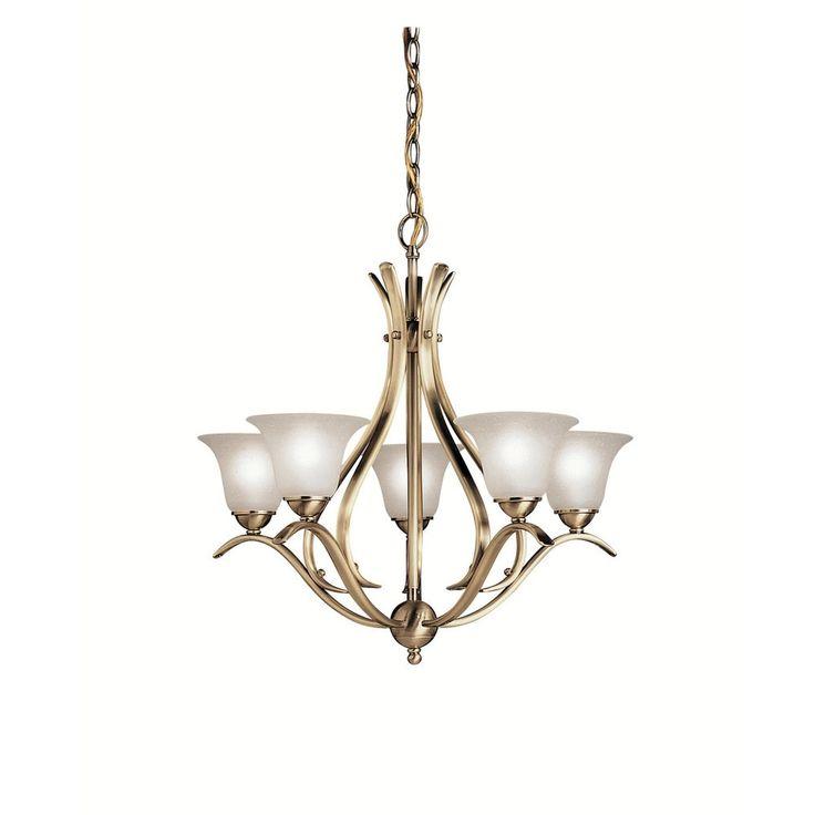 Kichler Lighting Dover Collection 5-light Antique Brass Chandelier