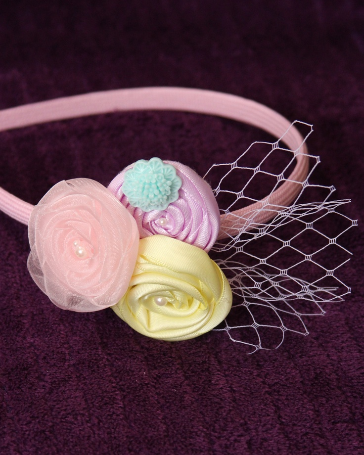 Easter Rosette Headband $10 https://www.facebook.com/pages/The-Hair-BAND-it/274169519317842