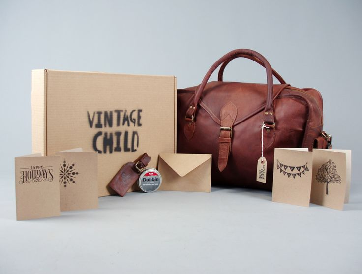 The Vagabond Gift Set: vintage style brown leather holdall duffle bag extra large cabin luggage unisex gift him her personalized christmas by VintageChildShop on Etsy https://www.etsy.com/listing/244803145/the-vagabond-gift-set-vintage-style