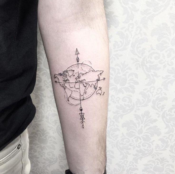 25 melhores ideias de tatuagems de mapa do mundo no pinterest tatuagem mundo tatuagem do. Black Bedroom Furniture Sets. Home Design Ideas