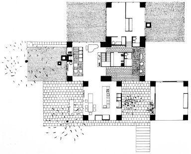 Adler House by Louis I. Kahn, in Philadelphia, US. 1.955.