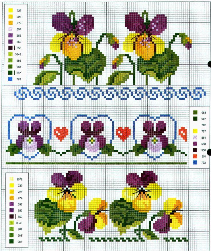 Le 25 migliori idee su fiori a punto croce su pinterest for Schemi punto croce fiori e farfalle