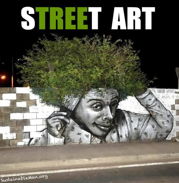 This street art made me smile.