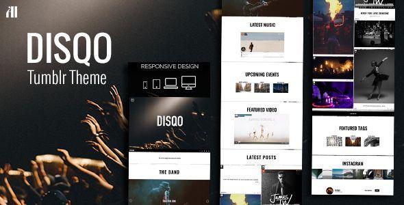 DISQO - Portfolio & Blogging Tumblr Theme