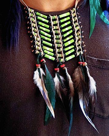 Native American Breatplate - Small Green - $24