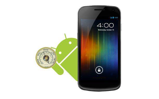A cosa serve il barometro sul Galaxy Nexus? Eccovi la risposta