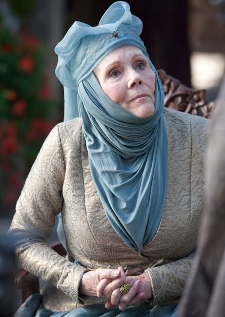 In case I burn all my hair off trying to curl it for Halloween I'll just go as Olenna Tyrell.