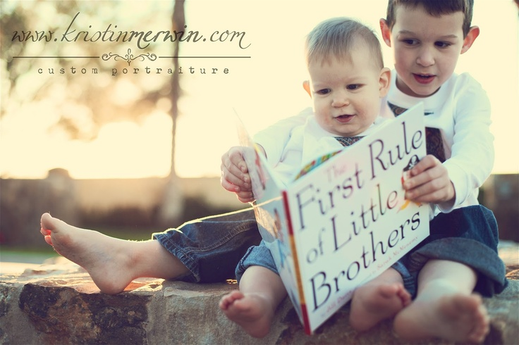 LOVE the book! What a cute brothers photo idea!