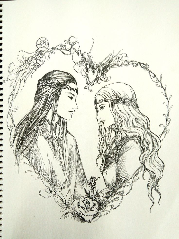 Elrond and Celebrian by Nasca
