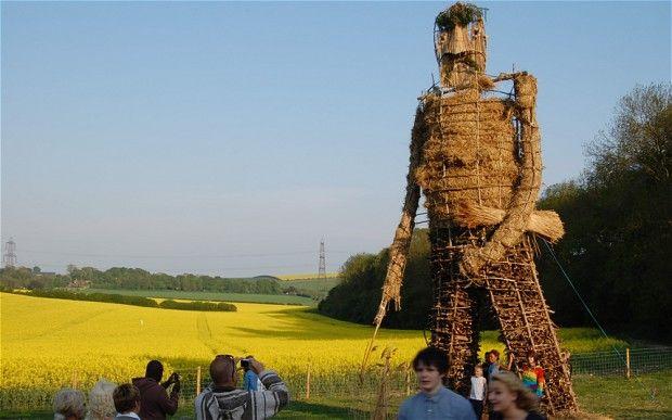 Beltane festival Wicker Man, near Petersfield, Hampshire