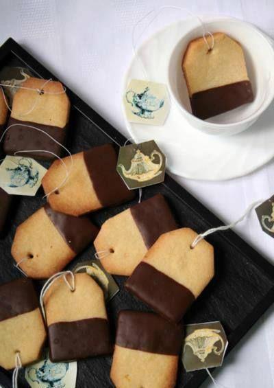 Ricetta Biscotti a forma di bustina da tè