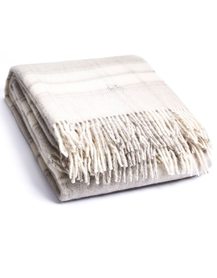 Cort Wool Blanket. Woven from 100% top quality wool with two fringed sides make this blanket extra soft and warm.