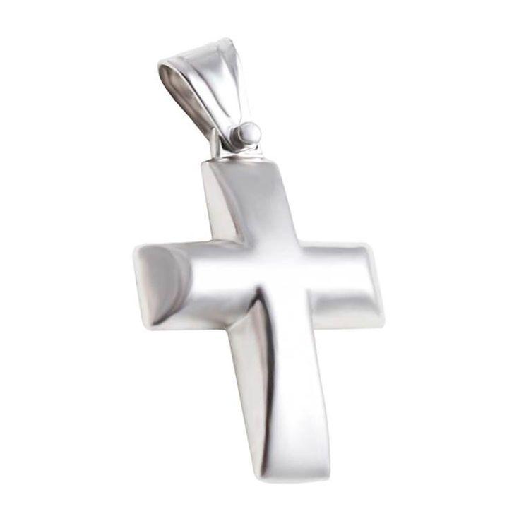 ΣΤ666P -Λευκόχρυσος βαπτιστικός σταυρός