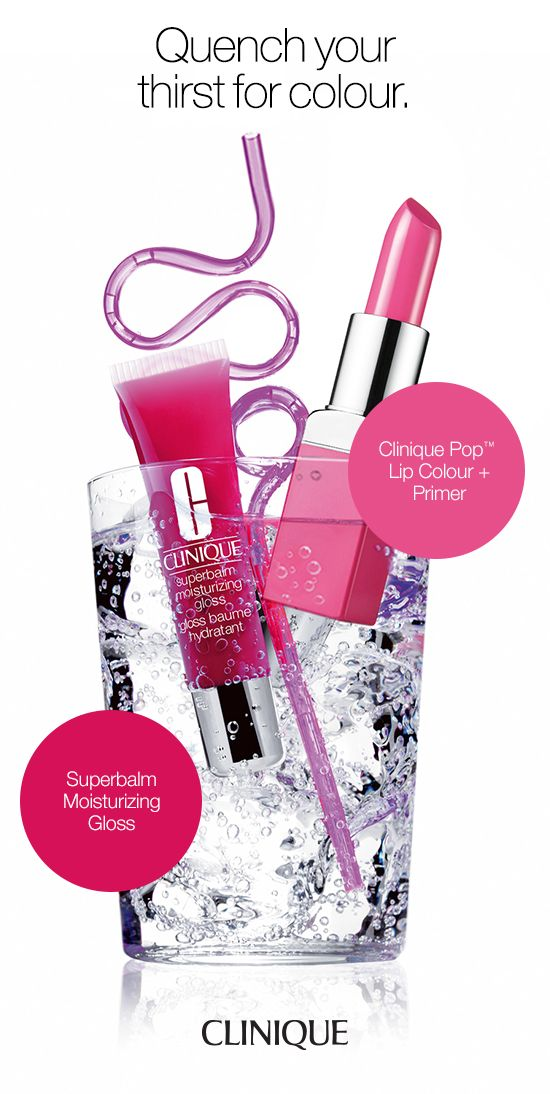 Clinique Pop Lip Colour + Primer's luxurious yet weightless formula merges bold, saturated colour with a smoothing primer. Glides on effortlessly to a modern-velvet finish. Clinique Superbalm Moisturizing Gloss' luscious, high-gloss shades treats your most undermoisturized skin to soothing shine. Instantly relieves dryness.