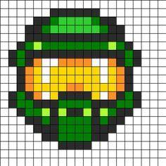 Go Back > Pix For > Minecraft Master Chief Helmet Pixel Art