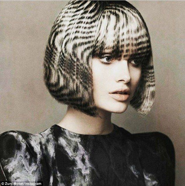 Memory lane: Reminiscent of hair gems, the hair stencilling finished product often makes people's hair look like detailed works of art
