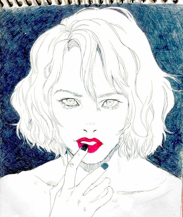 Blue black #pen_draw #art #illustration