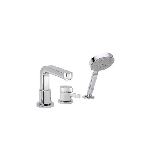 Found it at Wayfair - Metris S Single Handle Deck Mounted Roman Tub Faucet Trim with Hand Shower