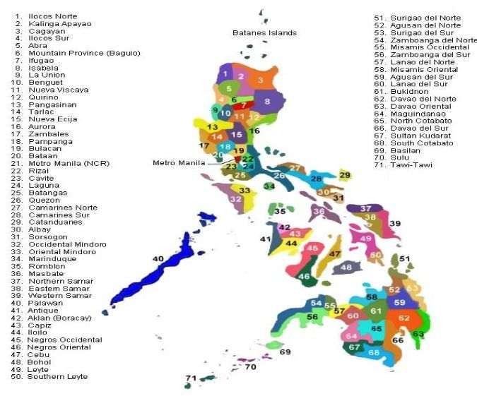 philippines map provinces  Designed by Webdesign Wien