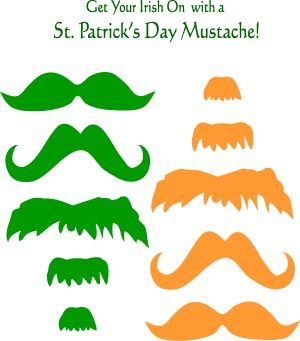 leprechaun mask template - 1000 ideas about mustache crafts on pinterest mustache