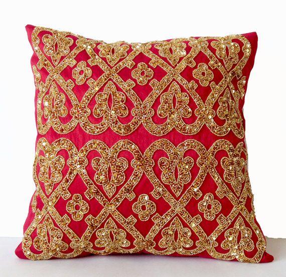 decorative pillow hot pink pillow fuchsia pillow by amorebeaute