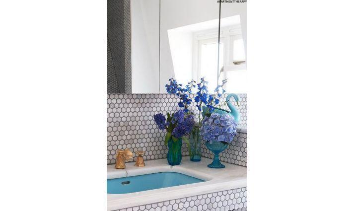 mozaika ceramiczna heksagonalna jasno szara matowa