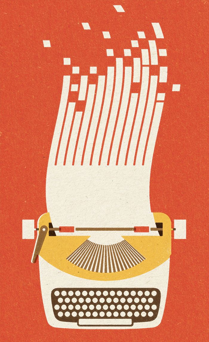 Typewriter graphic