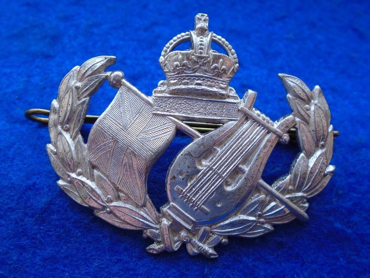 Wwii british/australian #military #band? #bandmaster? silver plated cap badge + p,  View more on the LINK: http://www.zeppy.io/product/gb/2/381956896626/