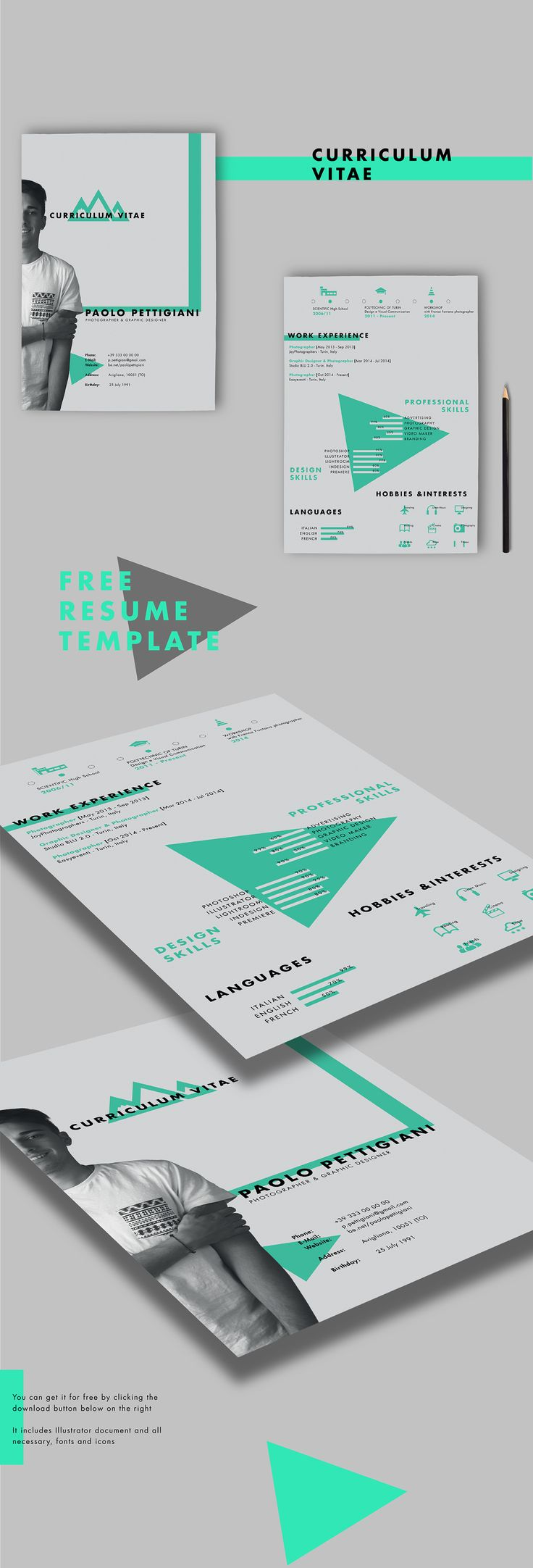 25 best cv images on Pinterest | Resume design, Carte de visite ...