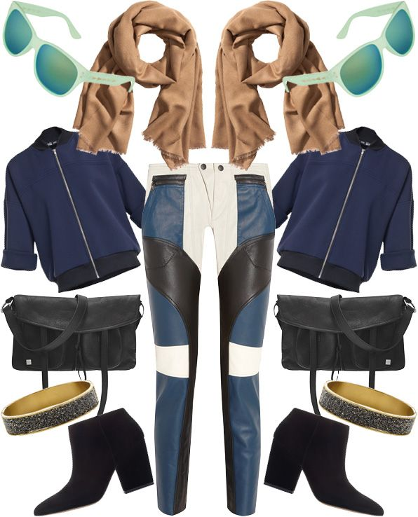 Colorful leather trousers / layout Samantha Kamiński / http://www.rostyleandlife.com/ro/pl/home/50-fashion-pl/shopping-pl/2080-shopping-kolorowe-skorzane-spodnie