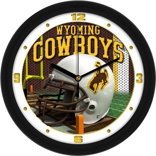 University of Wyoming Cowboys Helmet Wall Clock