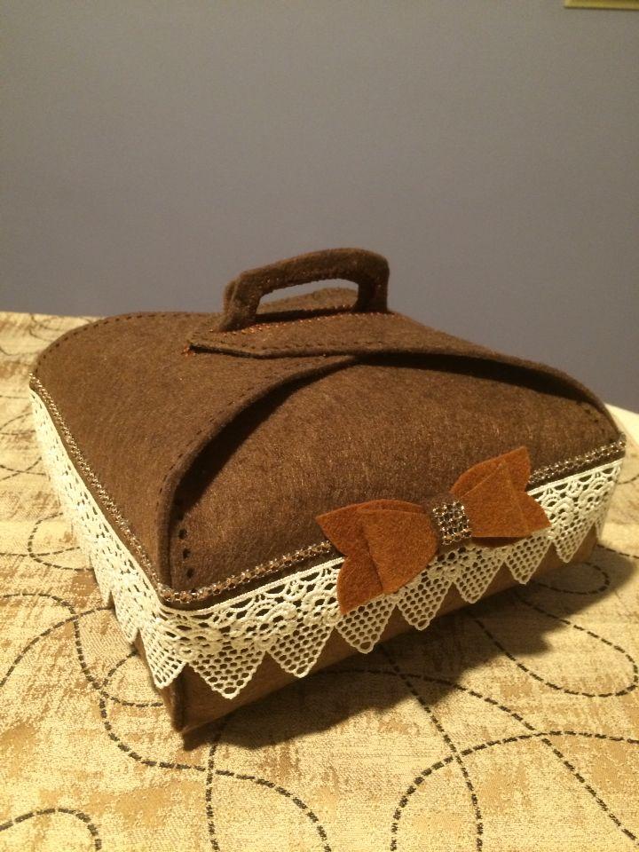 Porta torta in feltro