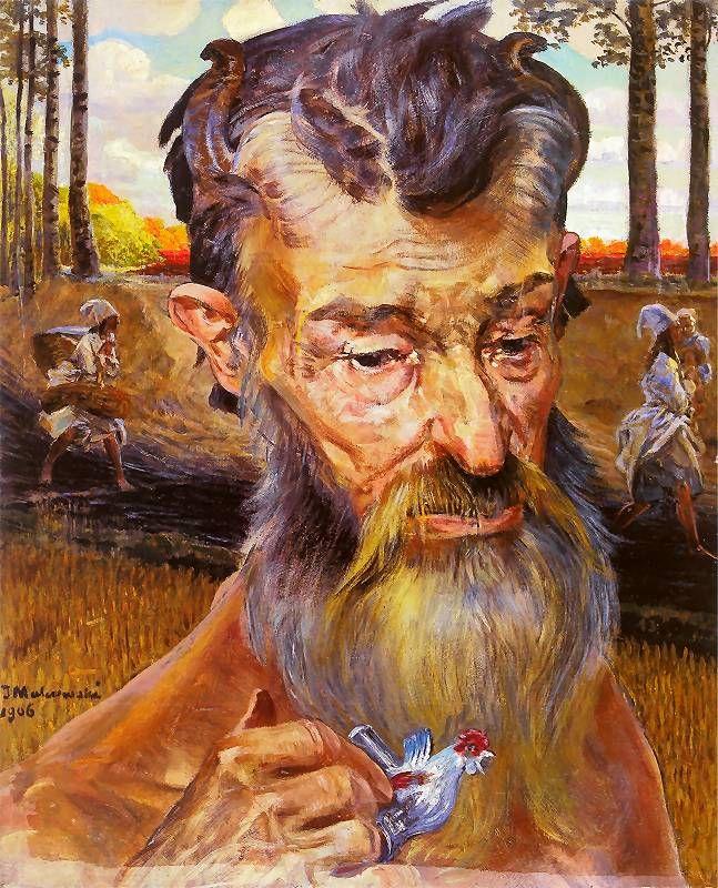 Autoportret z faunami (tryptyk), 1906