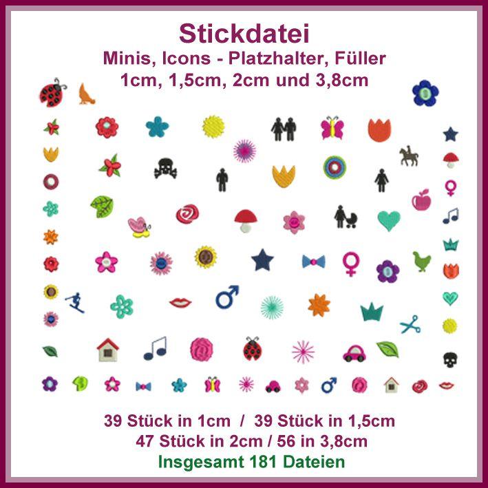 Minis Icons Giga Set Stickdatei