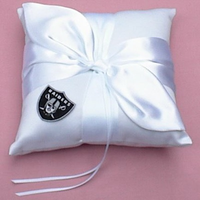 Wedding Ring Bearer Pillow - Oakland Raiders Football Themed