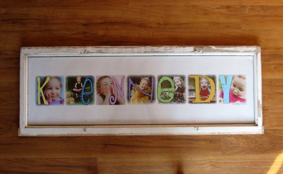 Pics with letters to spell out name: Diy Ideas, Letters Frames, Gifts Ideas, Bday Posters, Photo Letters, Kiddo Ideas, Personalized Photo, Gicl Prints, Photography Inspiration