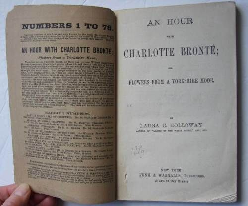 An-Hour-With-Charlotte-Bronte-Laura-Holloway-1883-biography-poems-letters
