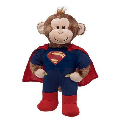 Cheerful Monkey in Superman Costume - Build-A-Bear Workshop US $35.00