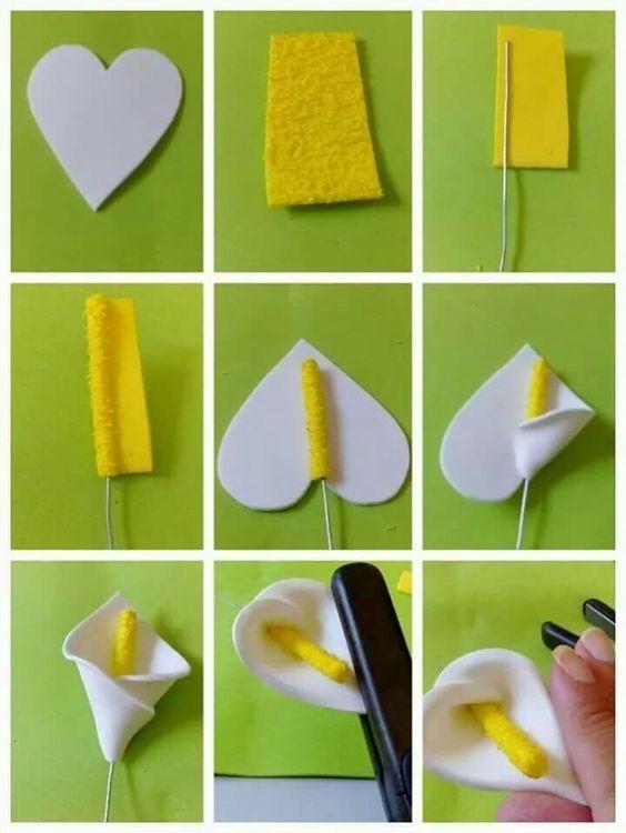 Pap flor - e.v.a, feltro, biscuit