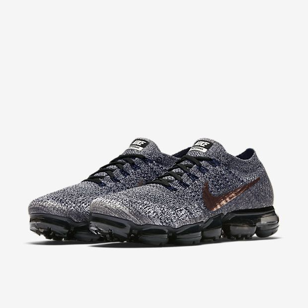 online store aeded 00e00 Nike Air VaporMax 2018 Flyknit Gray Gold Tick