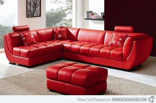 Leather Sofa, Red Leather Furniture